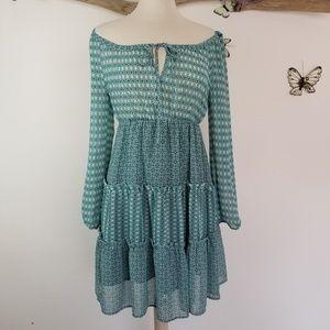 H&M boho off the shoulder peasant dress